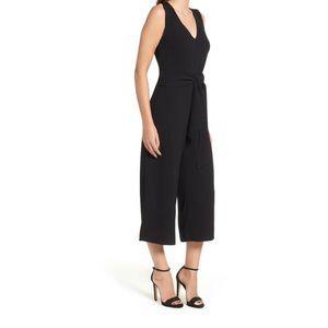 ANN TAYLOR Factory Tie Jumpsuit Black Sz. 8